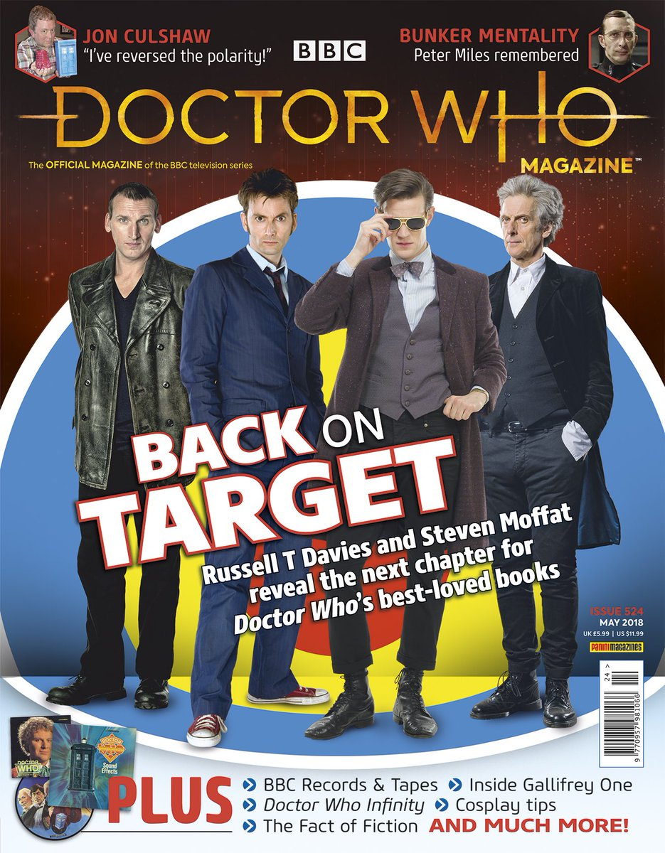 David Tennant on the cover of Doctor Who Magazine issue 524