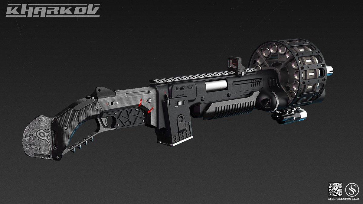Futuristic Gun Concept Art