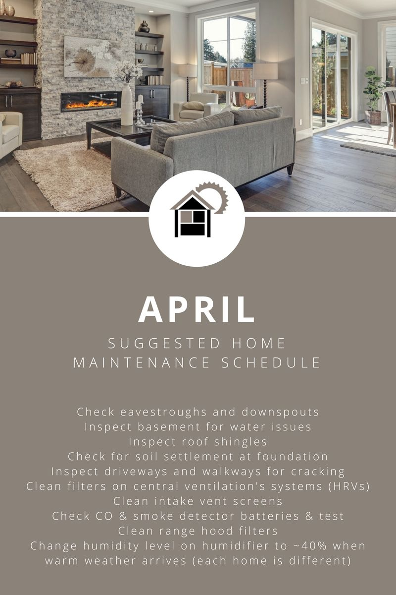 Truman Homes On Twitter Great Tips From Anhwp On Suggested Maintenance For The Month Of April