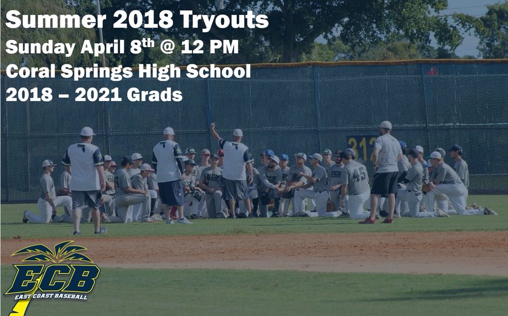 East coast baseball ecoastbaseball twitter we will be hosting our make up tryouts sunday april 8th coral springs hs this is a free tryout and is open to all 2018 2021 grads malvernweather Choice Image
