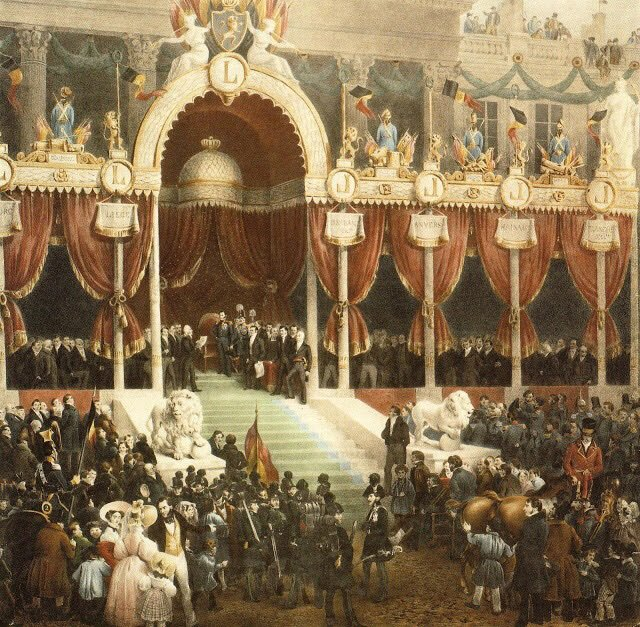 #OTD #cejourla Leopold of Saxe-Coburg sworn in as King of the Belgians in Brussels, more than five months after the adoption of a liberal and parliamentary constitution, which the monarch would soon enough interpret to his own liking #twitterstorians<br>http://pic.twitter.com/CkGUX6Vl83