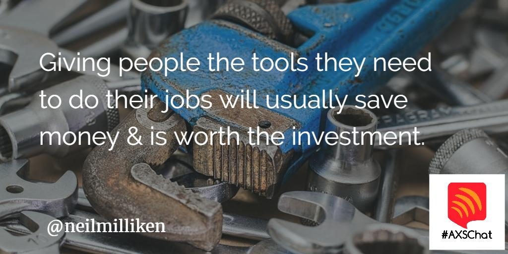 Giving people the tools that they need to do their jobs will usually save money & is worth the investment. #assistivetechnology #inclusion
