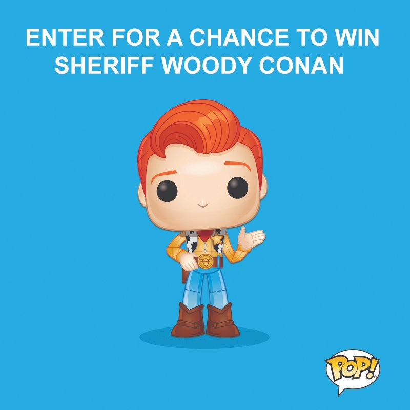 Grab the @OriginalFunko code NOW on @TBSNetwork & enter for a chance to win a Sheriff Woody Conan figure @ http://teamcoco.com/pop