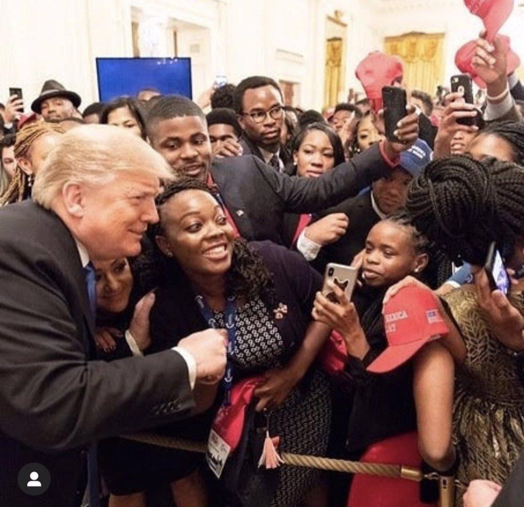 Seems like folks love our President. #MAGA #BlackNotDemocrat<br>http://pic.twitter.com/JMeRIJtgUU