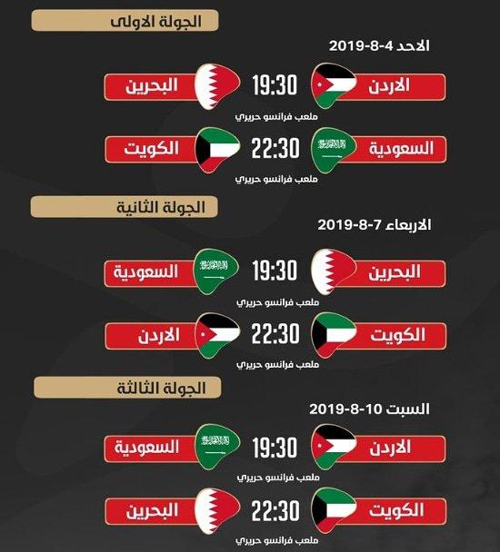 جدول مباريات المجموعة الثانية  من بطولة غرب آسيا 2019 العراق #المنتخب_السعودي  #معاك_يالأخضر https://t.co/pjhRZXFtBq