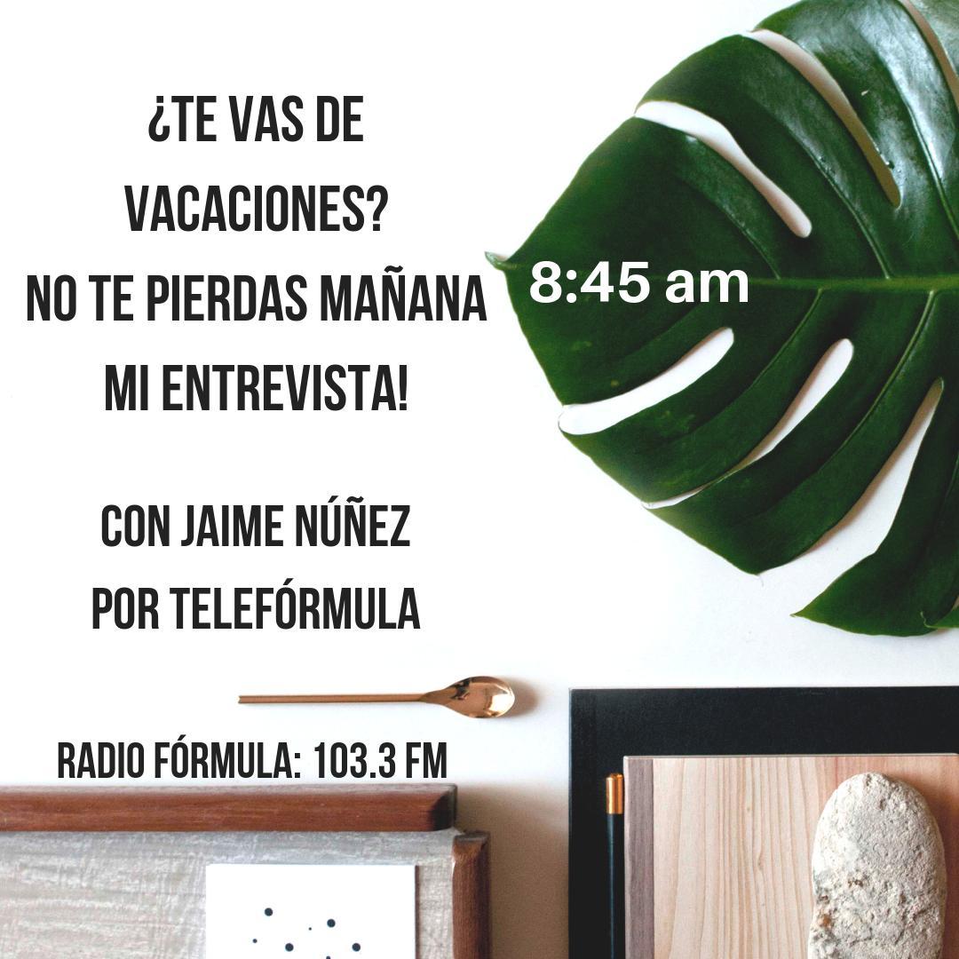Nos vemos mañana en #teleformula para darles todos los mejores consejos para cuidarse en vacaciones! @janupi #AbriendoLaConversacion No se lo pierdan! 8:45 am http://ow.ly/KhEL30paOPq