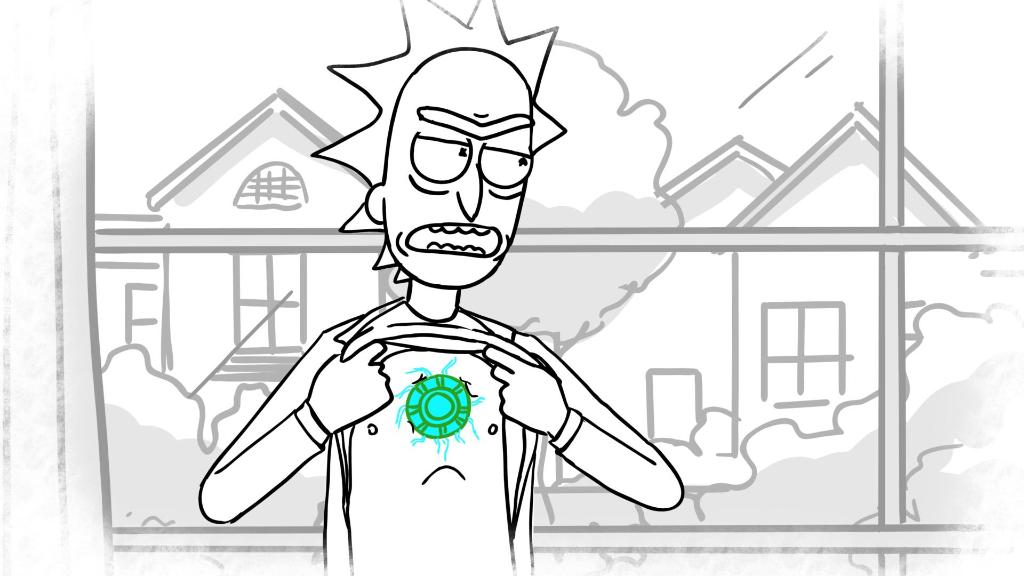 At #RickAndMorty LIVE, the cast read a script that was written in about 30 minutes and will most likely never become an episode. Here are the storyboards. #SDCC