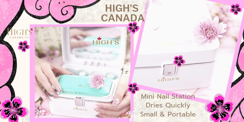 HIGHS CANADA MINI NAIL STATION  Our #MiniNailStation dries your nails quickly & is small enough to take with you. Perfect #Nails all the time.  Buy Now https://buff.ly/2EqrUh0   #highscanada #highsbeauty #homespa #DIY #beauty #nailcare #nailpolish #gelpolish #naildesign #quickdry