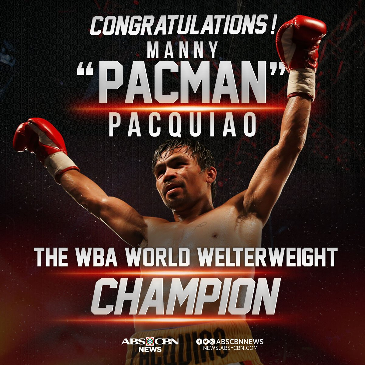 Manny Pacquiao juara Dunia WBA