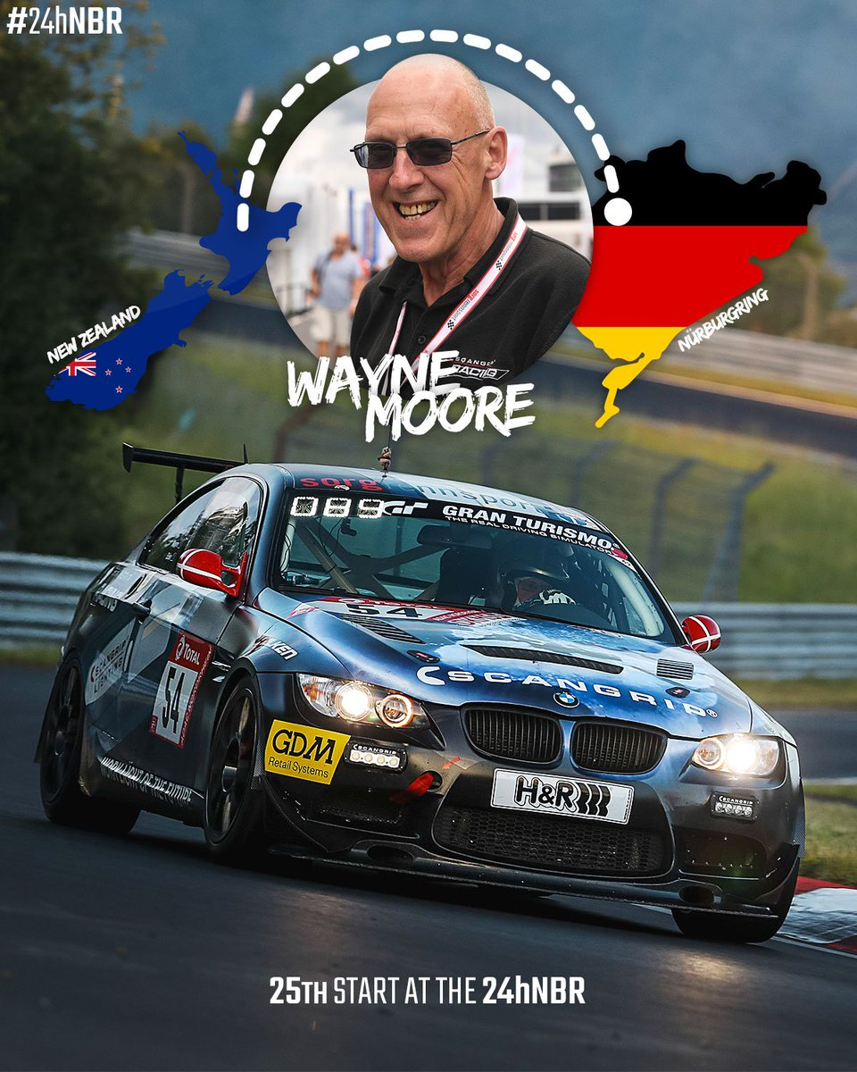 With this years start Kiwi Legend Wayne Moore made his 25th appearance at the race! Wow! 🇳🇿 #24hNBR