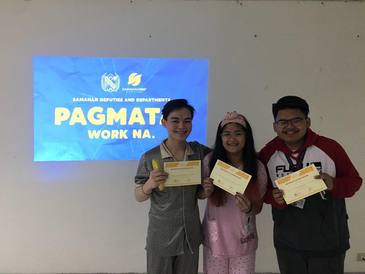 NH   Three SAMAHAN Department Members receive their special award!