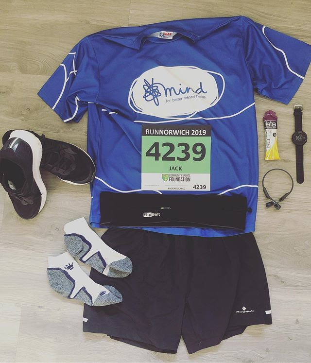 My #flatlay for today's #runnorwich 10km race - Let's do this! #norwich10k #letsdothis #ldtpacemakers #mind #mentalhealth #itsoknottobeok #runnersworld #aftershokz #garmin #garmin235 #saucony #redwayrunners #runner #sundayrun https://ift.tt/2XVsDVL