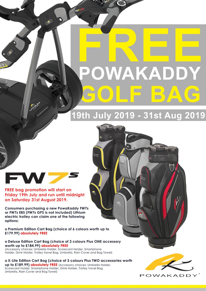 🏌️‍♂️ FREE BAG 🏌️‍♂️ For a limited time only get a FREE @PowaKaddy_Golf bag when you purchase a PowaKaddy FW7s or FW7s EBS trolley.🤩🔥 We have a selection of bags for you to choose from.  Shop Now: https://www.uniongolf.co.uk/index.php?route=product/isearch&search=Powakaddy%20Fw7s&description=true … 🛒  #powakaddy #FW7s #FreeBag #PowakaddyDeal #Golf #golftrolley