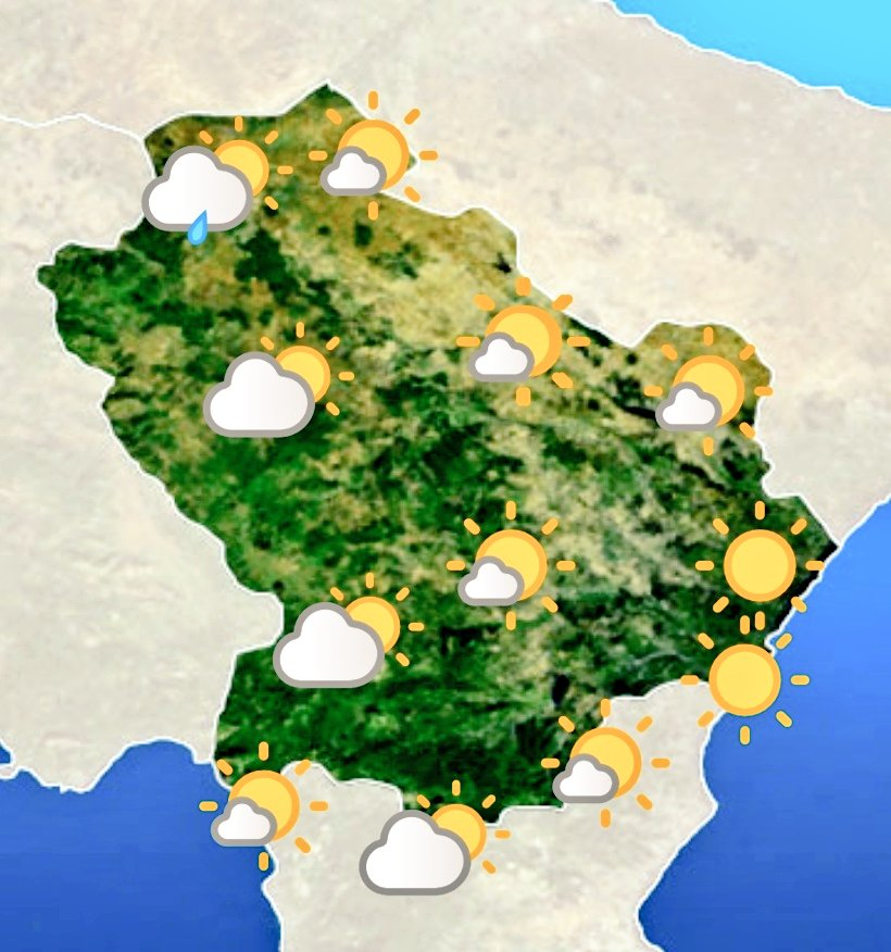 Le previsioni #meteo #Basilicata di oggi 18 luglio...