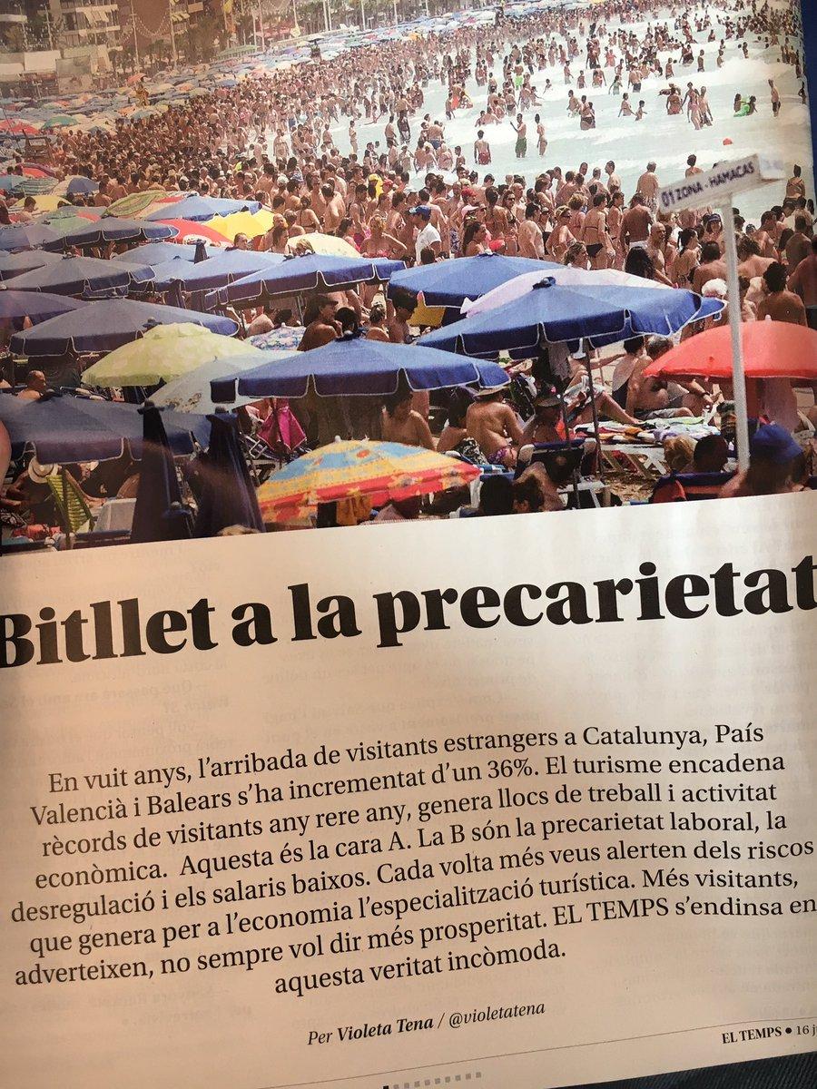 Brutal i molt recomanable el número de @ElTemps_cat sobre turisme. @violetatena estripa el tema amb reportatge a fons i entrevista. Top. Llegiu.