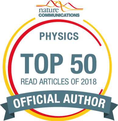 RT @adoldesa: Proud to be in the 2018 Top 50 #Physics most read articles in @NatureComms #NCOMTop50: http://tiny.cc/g7yx9y The work was done in @UoE_Physics @UofE_Research with a brilliant group from @russo_lab and @MCraciunLab! Read the paper here: https://www.nature.com/articles/s41467-018-04099-7…
