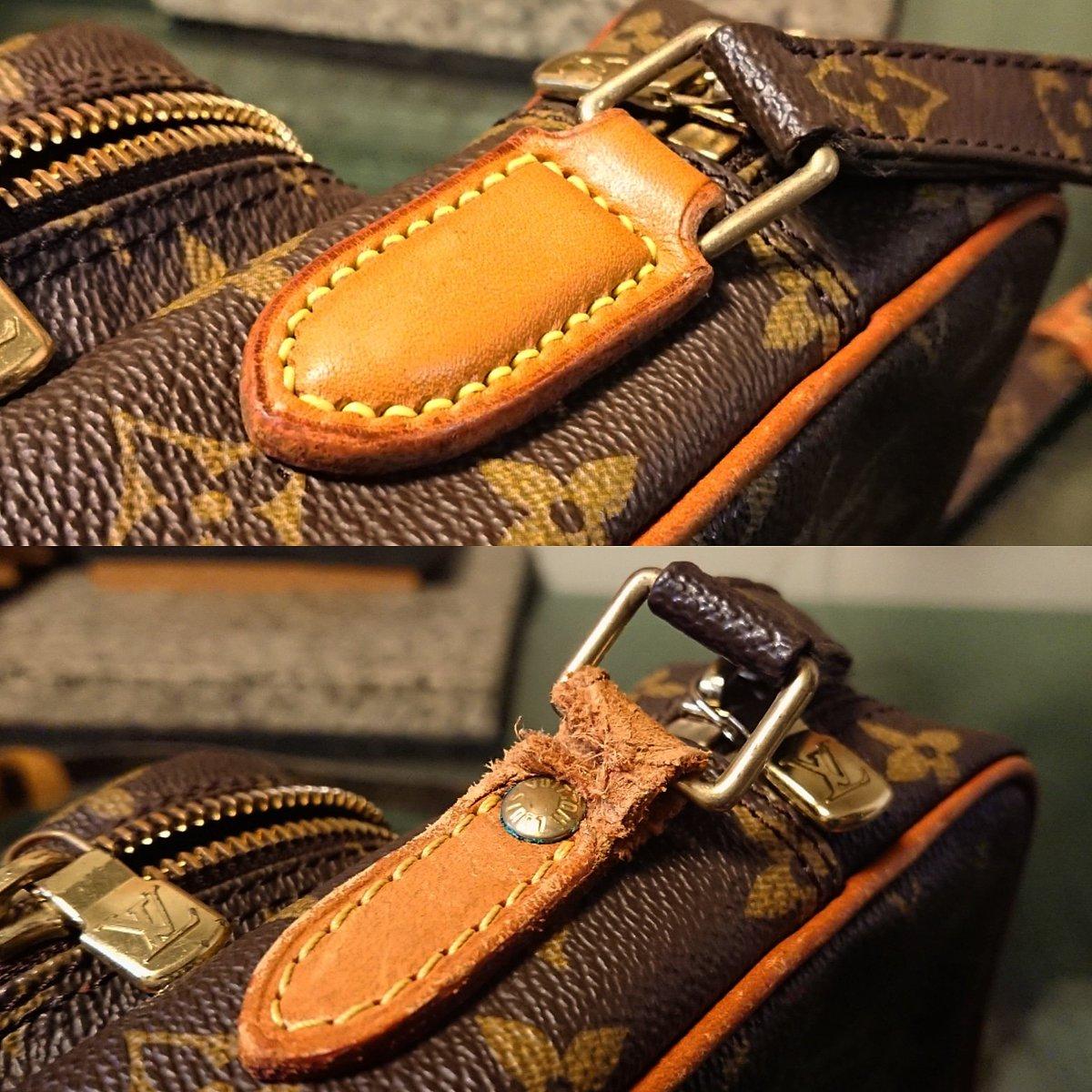 鞄の根革の修理完了。 #leather #leathercraft #handmade #handcrafted #bespoke #chelsealeatherartwork #革 #革細工 #レザー #レザークラフト #オーダーメイド #オーダーウォレット #bespokeleather #オーダー承ります #オーダー受付中 #鞄の修理