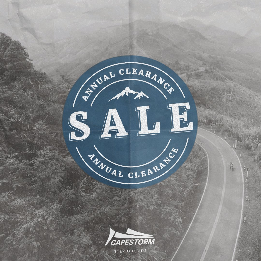 The Annual Capestorm Clearance Sale is officially taking place. Sign up to our newsletter and we'll tell you exactly where and when it will be: https://t.co/hZpV5ZHcl2 https://t.co/gBE56DTA6j