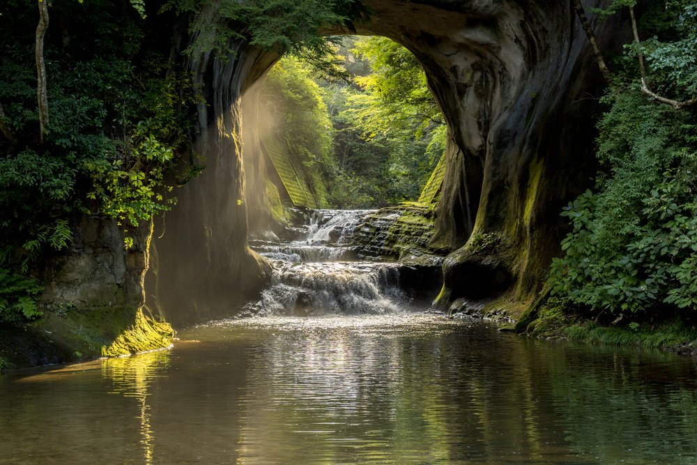 The beautiful Nomizo Waterfall in Chiba, a perfect side-trip from visiting the capital of Japan, Tokyo. #japan #travel
