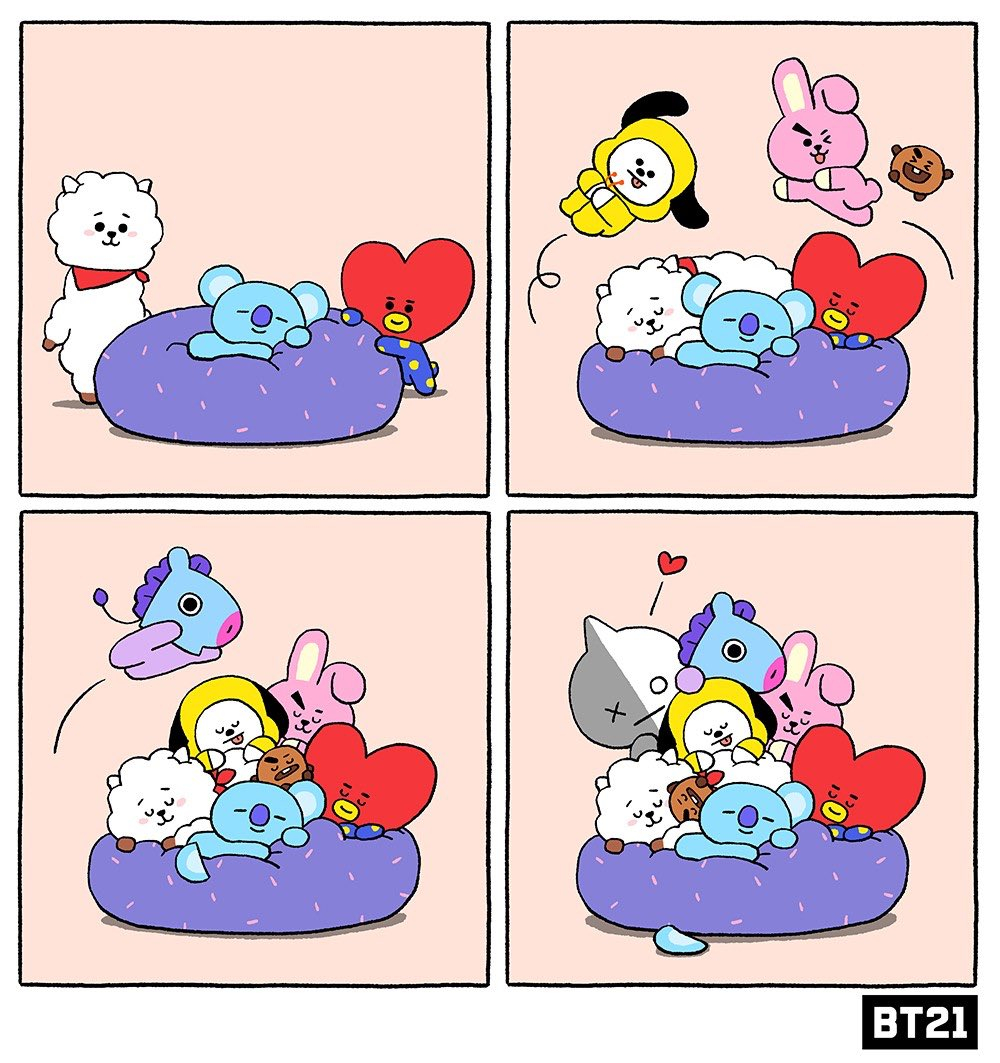 Tower of cuteness ❤ #CozierTogether #NappyNap #BT21