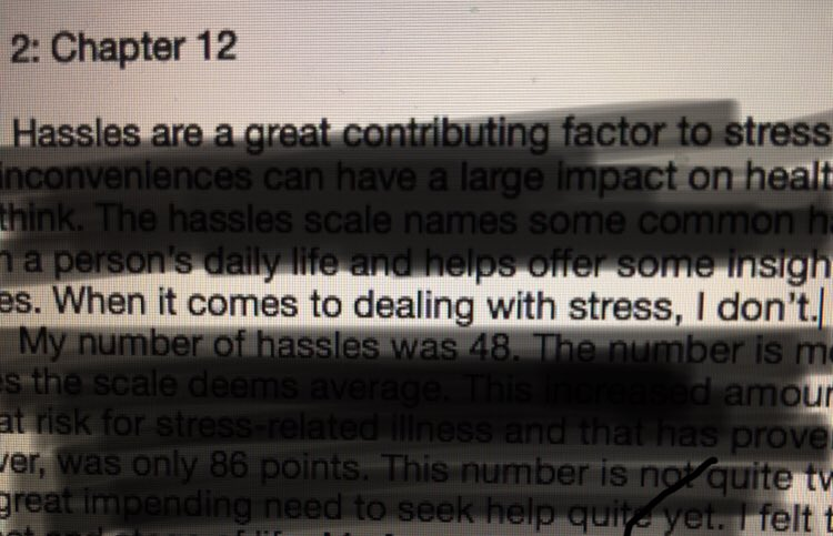 I had to write a psych essay on stress and how I cope with it and here's part of my thesis: <br>http://pic.twitter.com/LniaPEnKfi