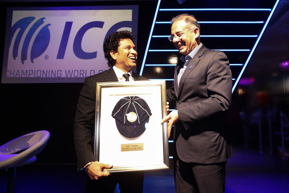 Master blaster #SachinTendulkar inducted into the @ICC Cricket Hall of Fame. He is the 6th Indian to be inducted into ICC Hall of Fame.Congratulations! 👏