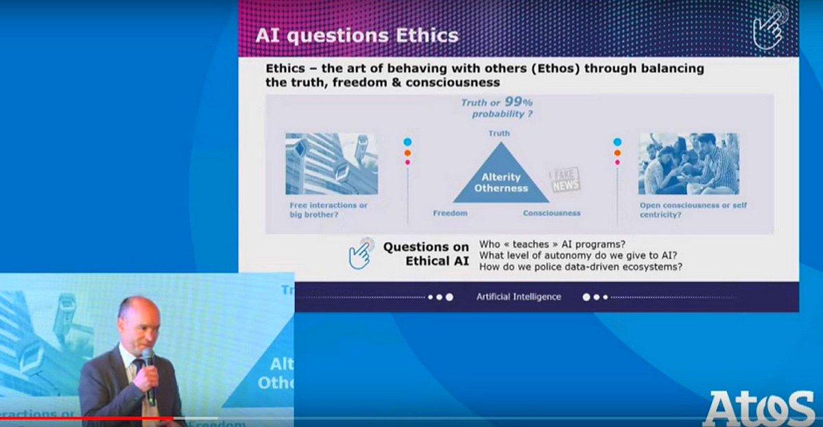 Promoting an Ethical Framework for Artificial Intelligence [Video] buff.ly/30r0P9w via @Atos Ht @pierrepinna [#Vivatech #DigitalEdge] #AI #Ethics #MachineLearning #DeepLearning Cc @MiaD @DeepLearn007 @Xbond49 @antgrasso @AkwyZ @helene_wpli @psb_dc @fogoros @mirko_ross
