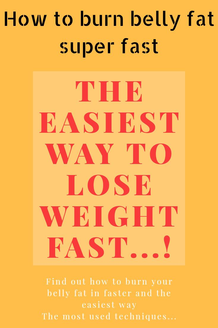 how to lose belly fat super fast