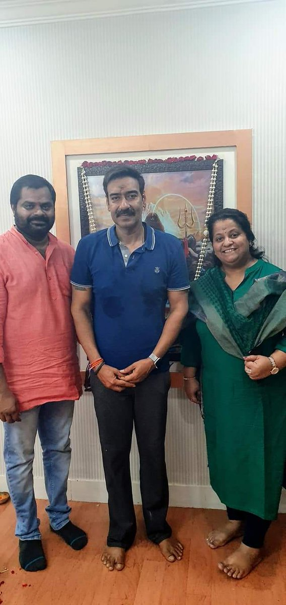 .@ajaydevgn at #Balumunnangi  office at #Hyedrabad  @TeamAjayDevgn