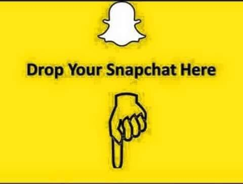 Drop ur #snapchat #here #please.😘