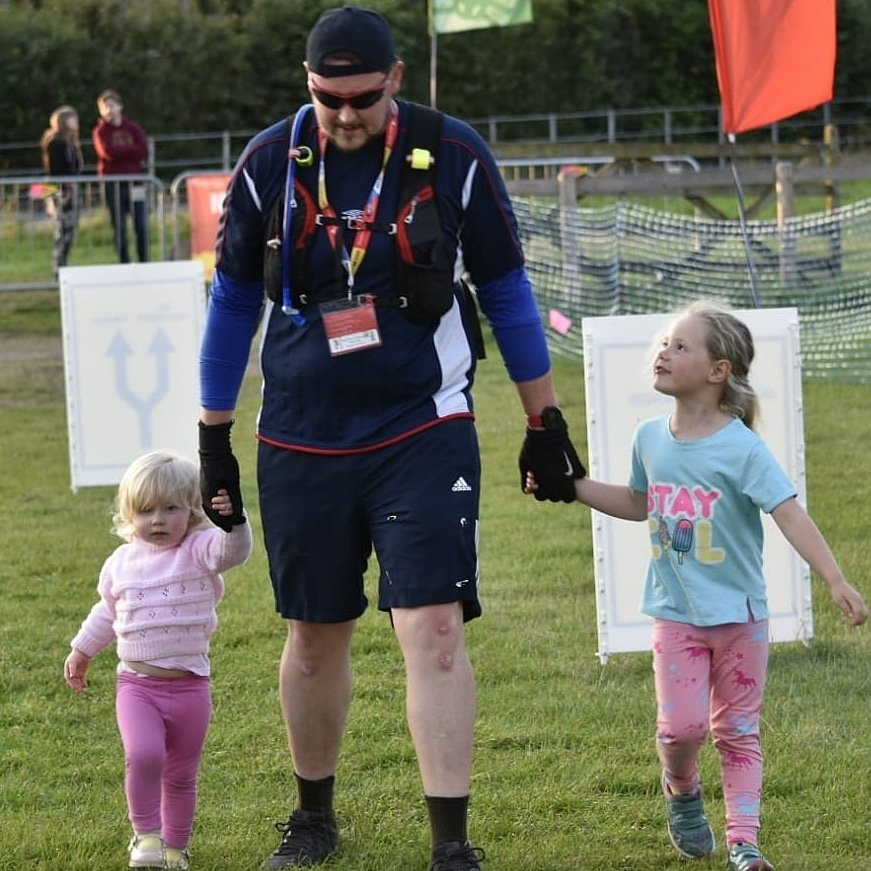 My first ultra marathon is complete. My girls helped me over the finish line. Proud, emotional and hard work. Roll on the next.  #50km #ultrachallenge #running #ultrarunning #peakdistrict