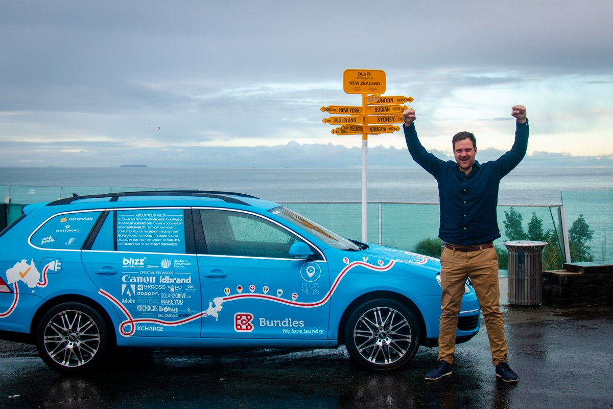After 1.222 days, 100.450 kilometres and 34 countries I reached the end! The end of the world and the end of my journey.  This signpost marks NZ's most southern point Bluff and that's as far as you can go by car. Proud that I made it, sad it's over but excited about the future.