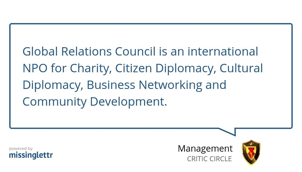 """In case you missed it, check out """"Celebrating one of Africas biggest NPO - Global Relations Council (See Details)"""" https://lttr.ai/FSr6 #NPO #CulturalDiplomacy #Nigeria #YOURKEYWORDSHERE"""