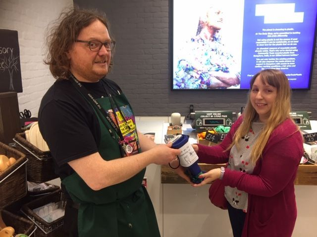 A big thank you to James and all the team at @thebodyshopuk in @Westquay for their support and fundraising during this years #MentalHealthAwarenessWeek! 😊