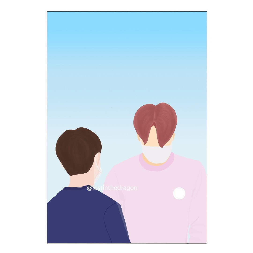 One of my favorite Kaisoo days ever. Low quality art of a high quality couple. . . . . . . . . . .  #kaisoo #kai #kyungsoo #jongin #dohkyungsoo #kimjongin #exokyungsoo #exokai #exojongin #pinkhairjongin #kadi #dika #kaisooart #kaisoofanart #exofanart #exofanarts #exo #weareoneexo