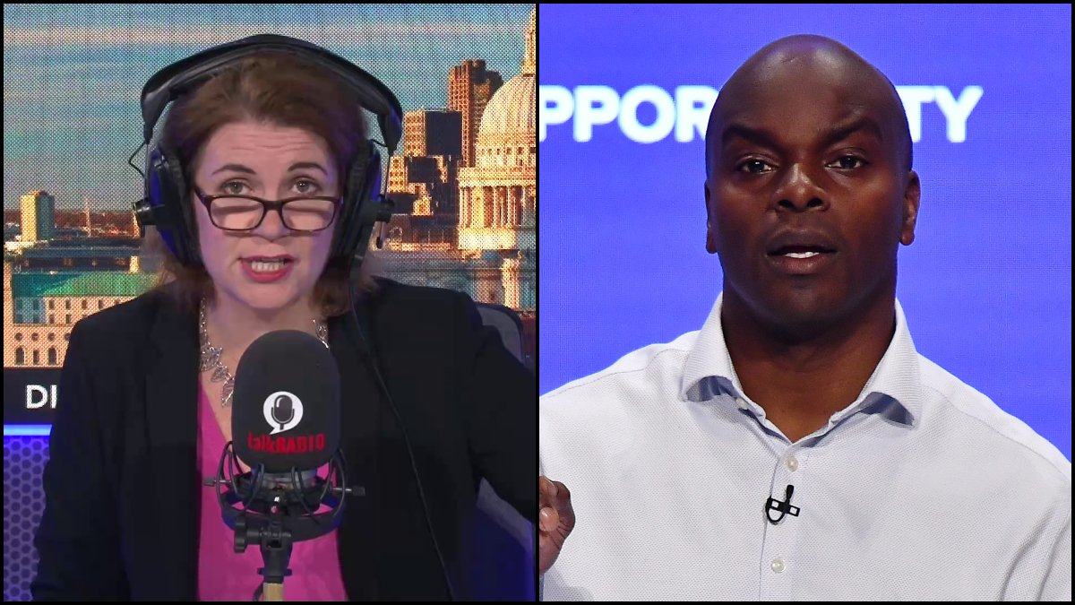 Knife crime in England and Wales has hit a record high. London Mayoral candidate Shaun Bailey tells Julia the answer is record numbers of police on the streets. @JuliaHB1   @ShaunBaileyUK