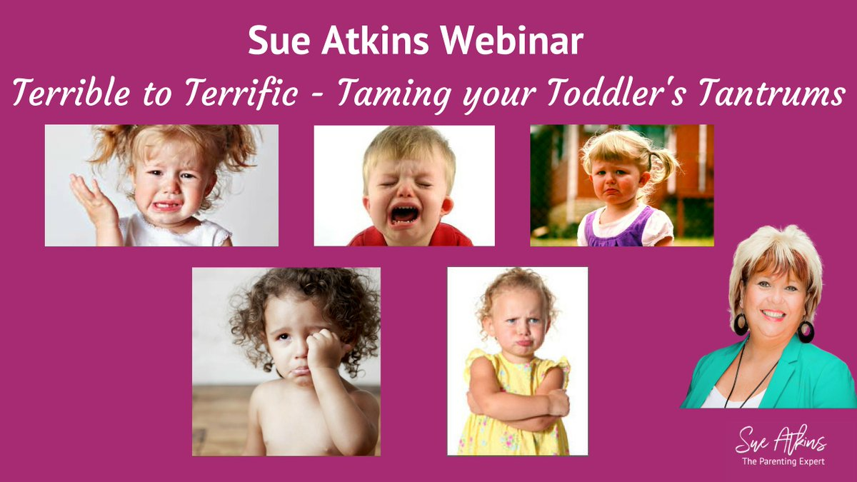 My recorded webinar: Terrible to Terrific - Toddler Tantrums! full of information, tips, advice and methods! Head over to my website to view! dld.bz/gHtF3