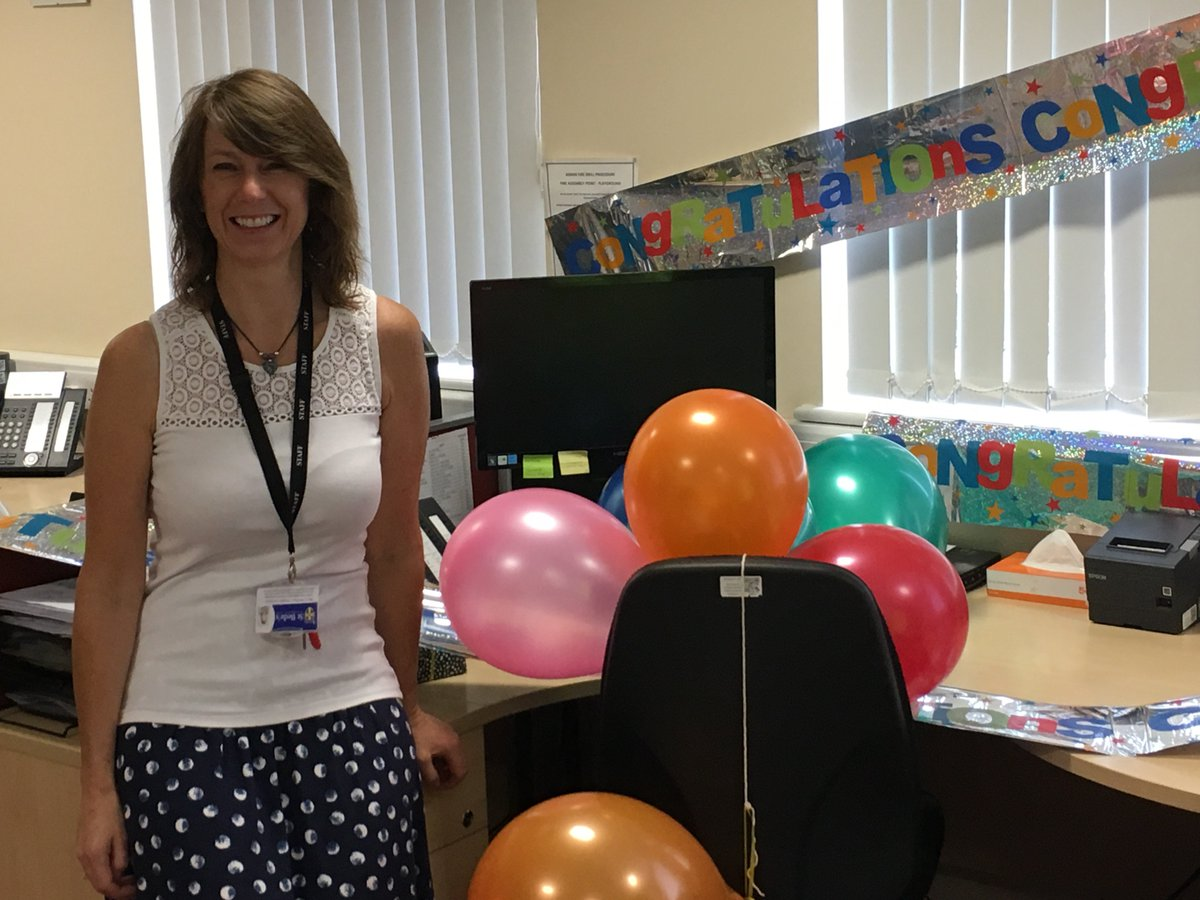 Goodbye and Good Luck to Caroline, who is leaving St Bede's Finance Team to work for Our Lady of Lourdes MAC. We will miss you Caroline! <br>http://pic.twitter.com/S4wZ7hWdfz