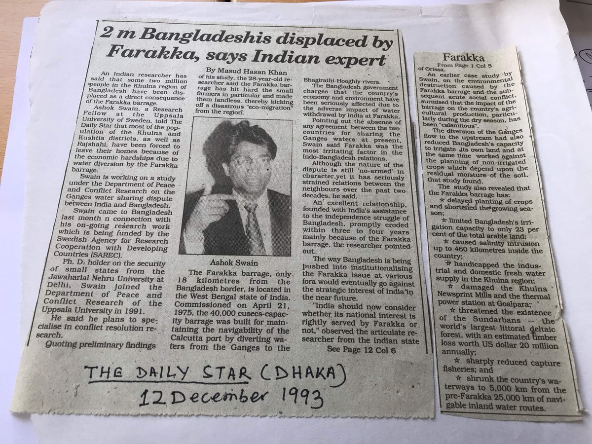 If we are are talking about Bangladeshis in India, we also need to know our role in this - My interview to the Daily Star (Dhaka) on 12 Dec 1993.