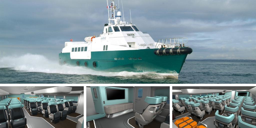 Sur 🌍, comme sur 🌊, la question de la #mobilité est posée. Avec + de 3M de personnes transportées chaque année, Bourbon Mobility s'impose comme leader du transport maritime de personnel à l'#Offshore. 👍Et c'est #PeugeotDesignLab qui signe le #design des cabines des navires.