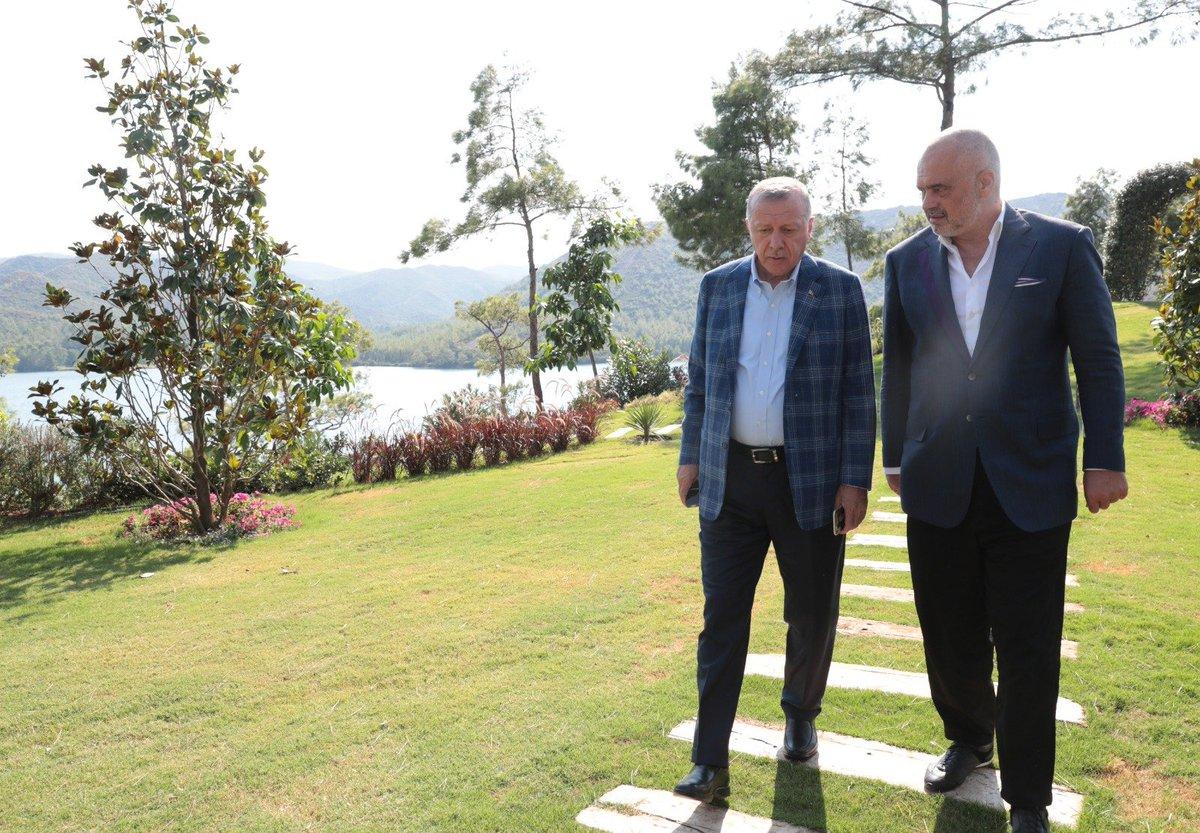 "AK Party on Twitter: ""President Recep Tayyip Erdoğan meets with Prime  Minister Edi Rama of Albania. https://t.co/O2fclz2kRh… """