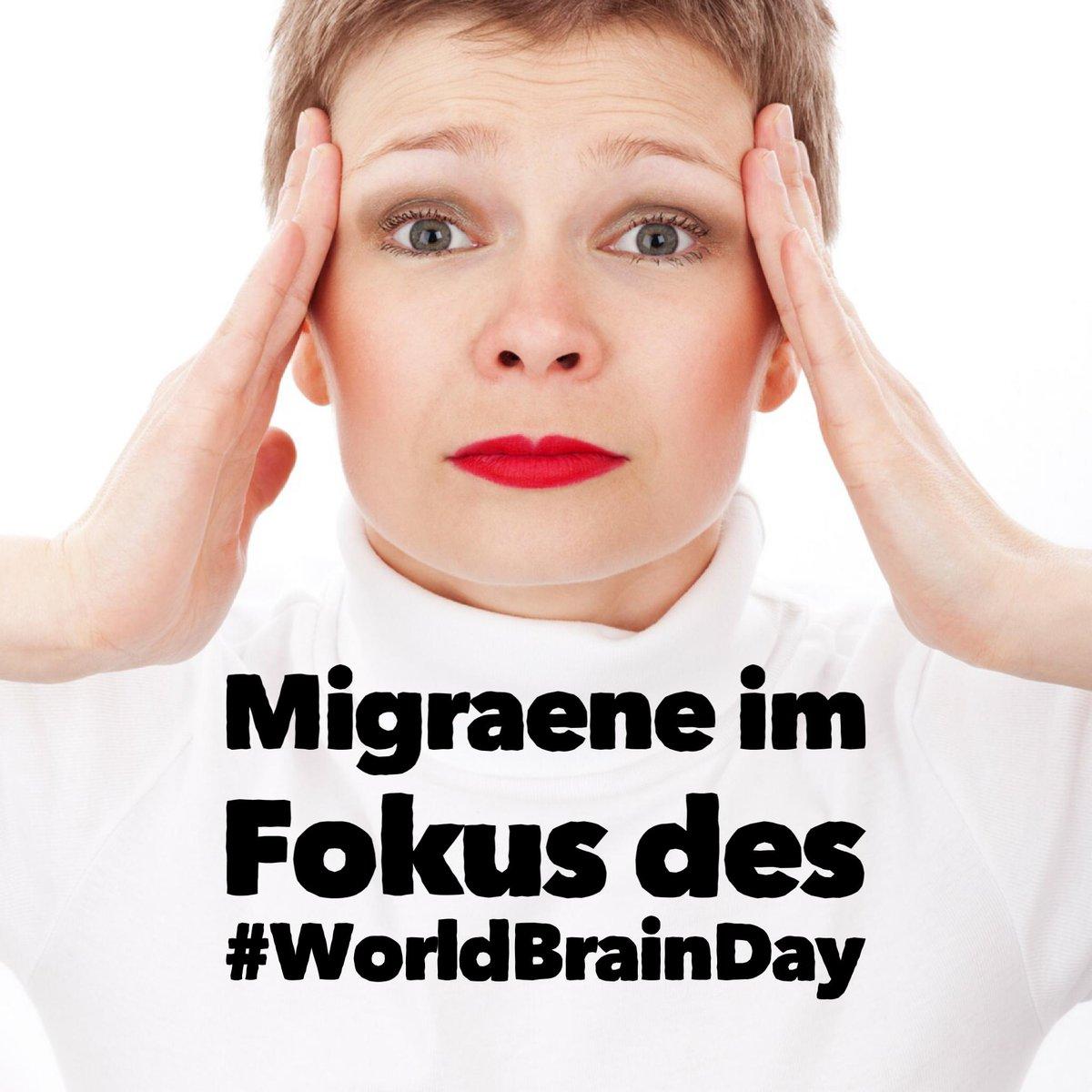 #Migräne im Fokus des #WorldBrainDay am 22. Juli 2019 Details https://t1p.de/lmpn via @dgneurologie #DMKG  http://www.attacke-kopfschmerzen.de/  #NotJustAMood #HowIFightDepression #ZentrumGL #Psychotherapie #Depression #IPT #DGIPT #Psychiatrie #Stress #BurnOut #Counseling #ZPGW