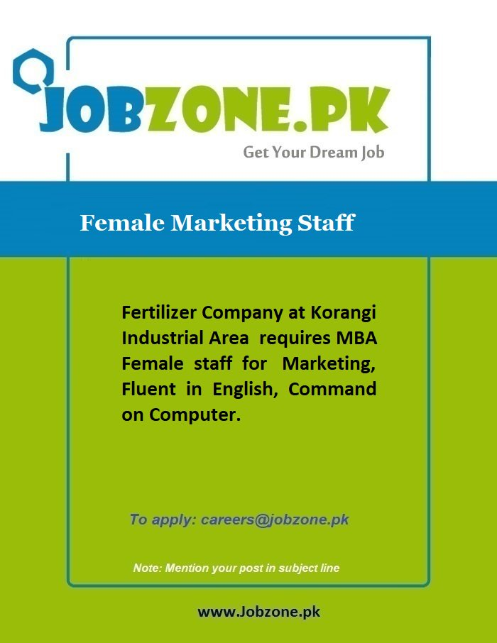 Female Jobs In Karachi Today