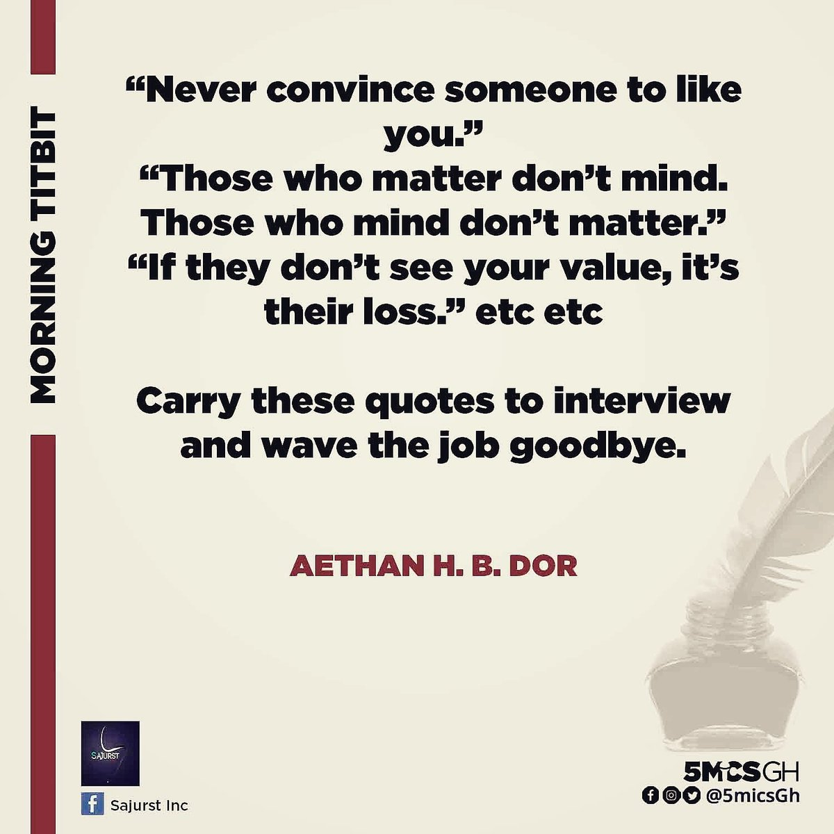 Friyaaaayyyy #morningtidbit  #TGIF #NotSoSilly #Never #Convince #Like #Matter #Mind #Value #Loss #Quotes #Interview #Wave #Job #Goodbye #Weekend #HappyWeekend