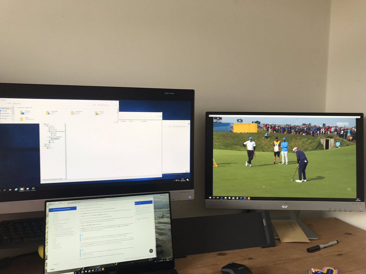 This morning is #Golf and #Citrix PVS