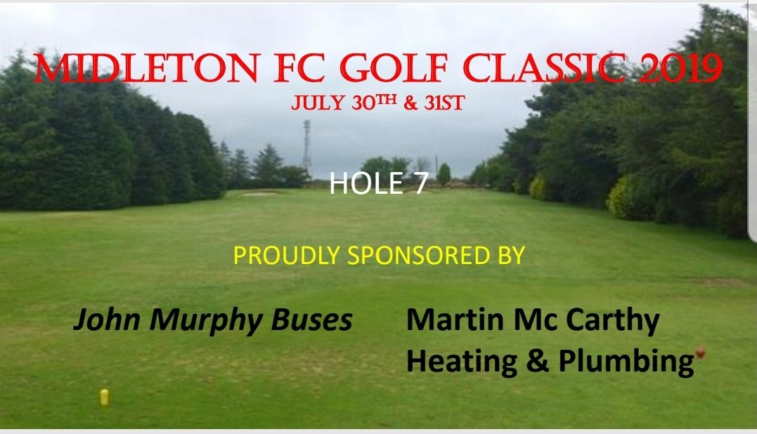 Hole 7 of our 18 hole countdown for our 2019 golf classic, And our 7th hole is kindly sponsored by John Murphy Buses and Martin Mc Carthy Heating and Plumbing  Your support is very much appreciated. @BigRedBench @CorksRedFM  @EastCorkJournal #golf #fundraiser