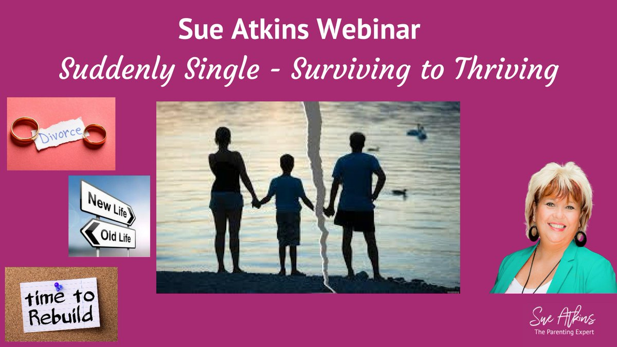 Suddenly Single Webinar - for parents that have recently separated from their partners helping you to understand the 7 stages of grief, support your children through the process and create a personal parenting plan dld.bz/hbQF7