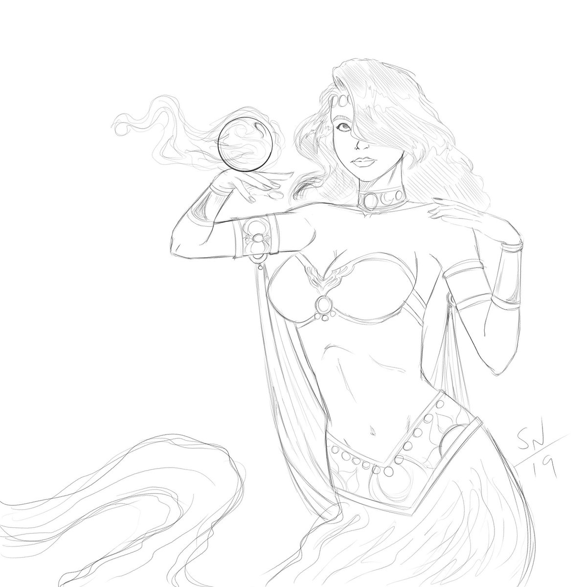 A Genie, Gifted in Premonitions  #art #illustration #comics #comicartist #genie  #fantasy #arabiannights #pinup #cosplay #bellacostume #bellydance #makingcomics #makecomics<br>http://pic.twitter.com/TJtDzSIOn5