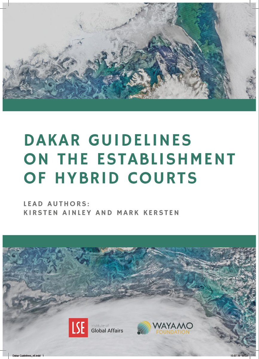 So excited! After two years of drafting & work, @kirstenainley & I will be launching the Dakar Guidelines on the Establishment of Hybrid Courts next week (in El Salvador). Details to follow, but check out our website on hybrids, and thanks to all involved!  https:// hybridjustice.com     <br>http://pic.twitter.com/sTmLrKFQHS
