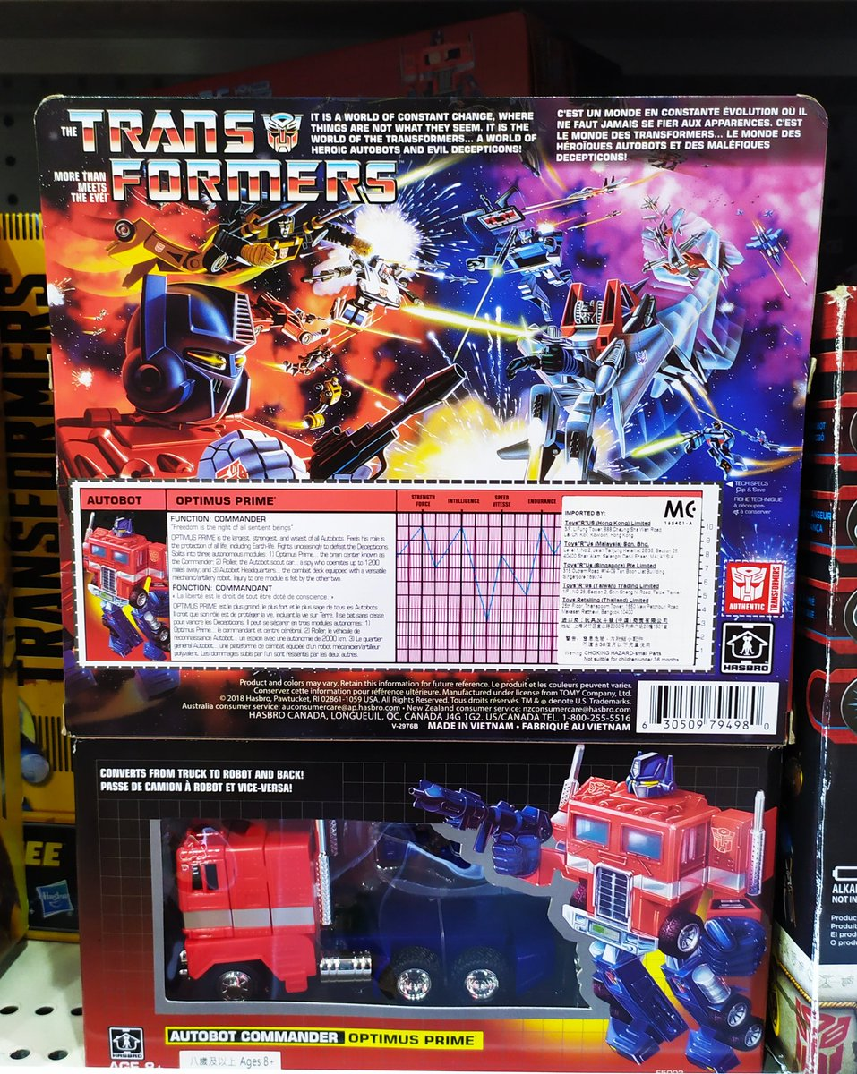 This never ceases to put a smile on my face. Even if it's just on a store shelf and not mine... yet. #transformers #transformersG1